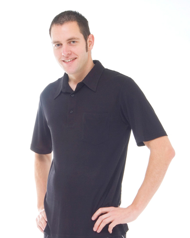 Knitted Silk Polo T-Shirt