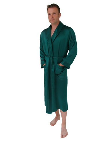 Long Silk Dressing Gown Men Nightwear Dressing Gowns The