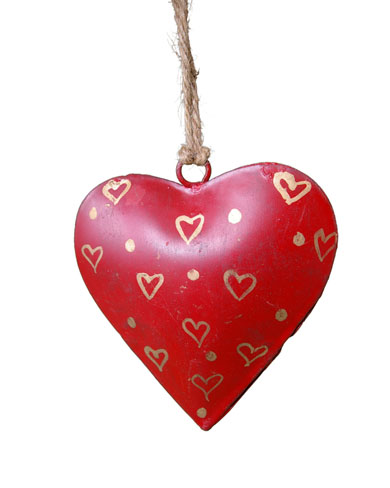 Small metal heart decoration gifts decorations the for Heart decorations for the home