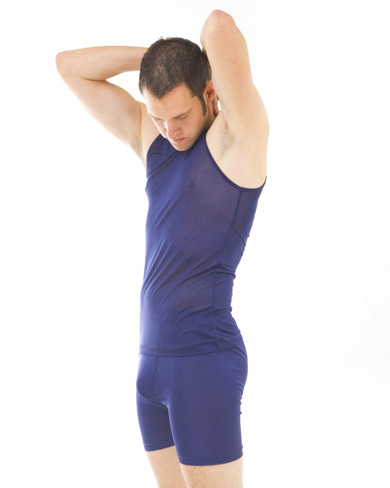 Silk Vest Top and Mid-Thigh Trunk Set