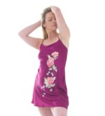 Silk Short Hand Painted Nightie